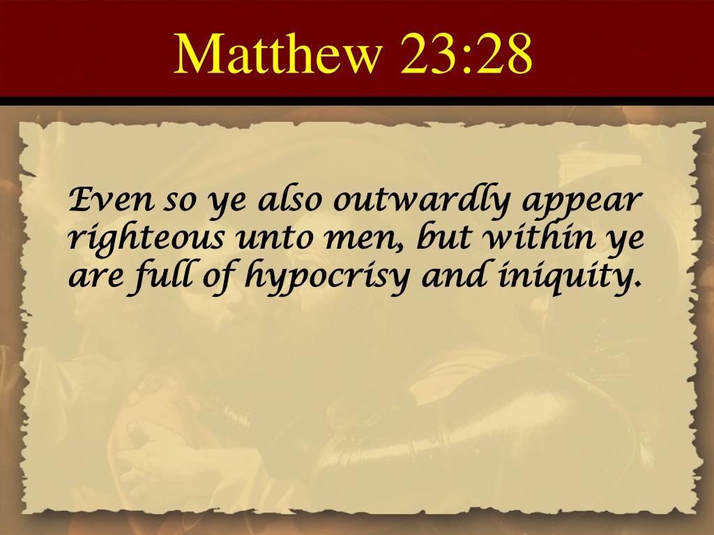 Matthew 23:28