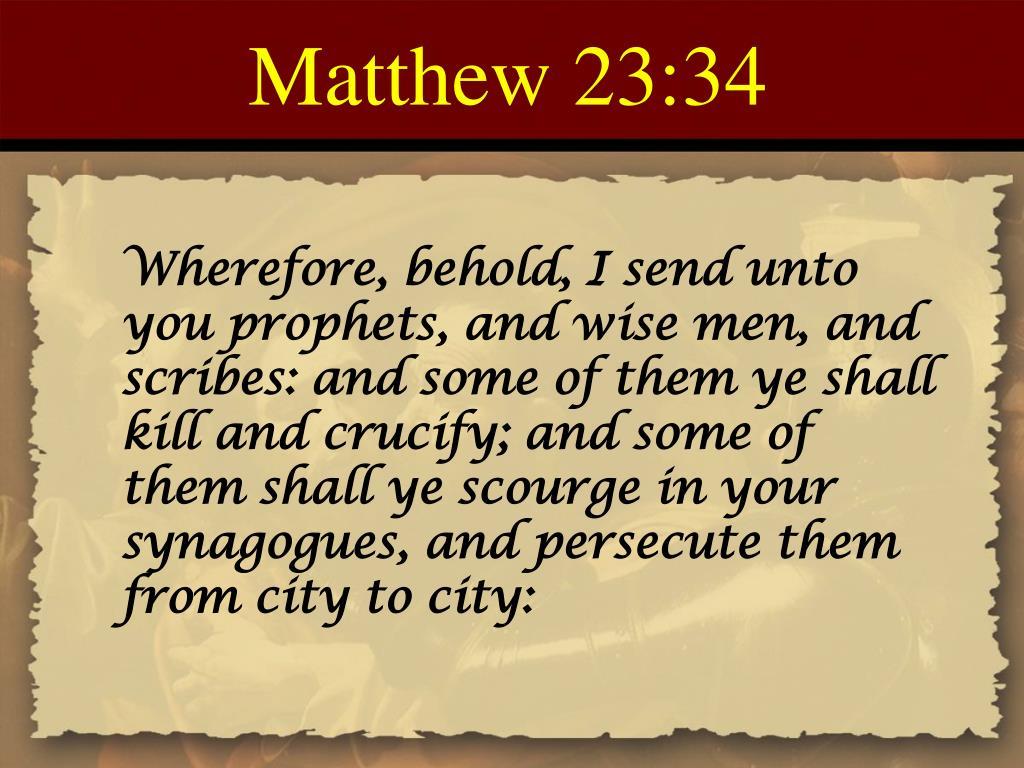 Matthew 23:34