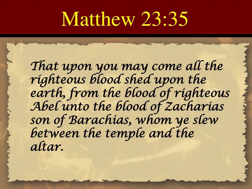 Matthew 23:35