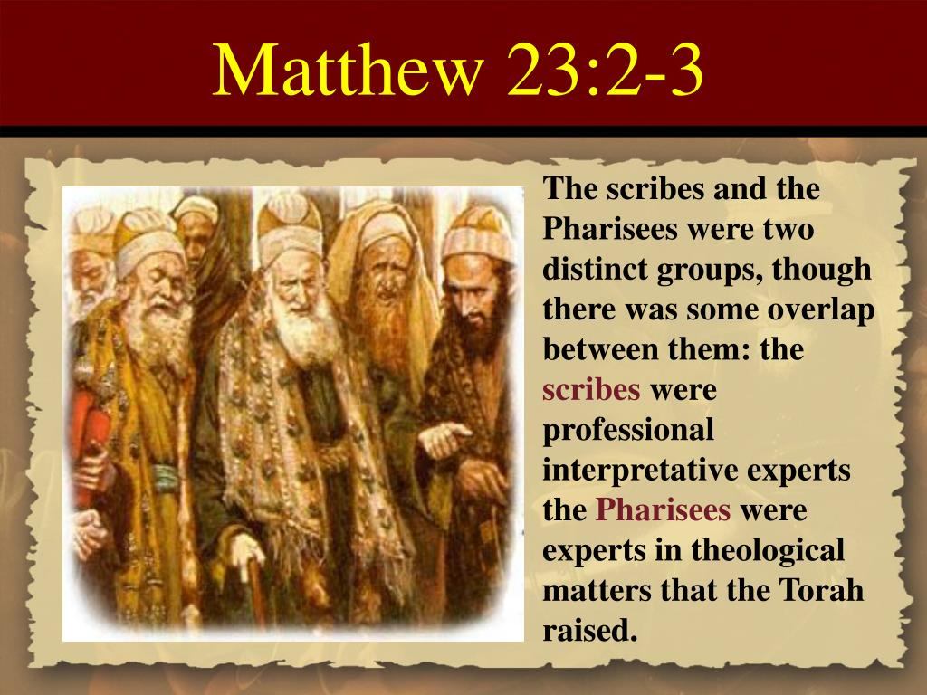Matthew 23:2-3