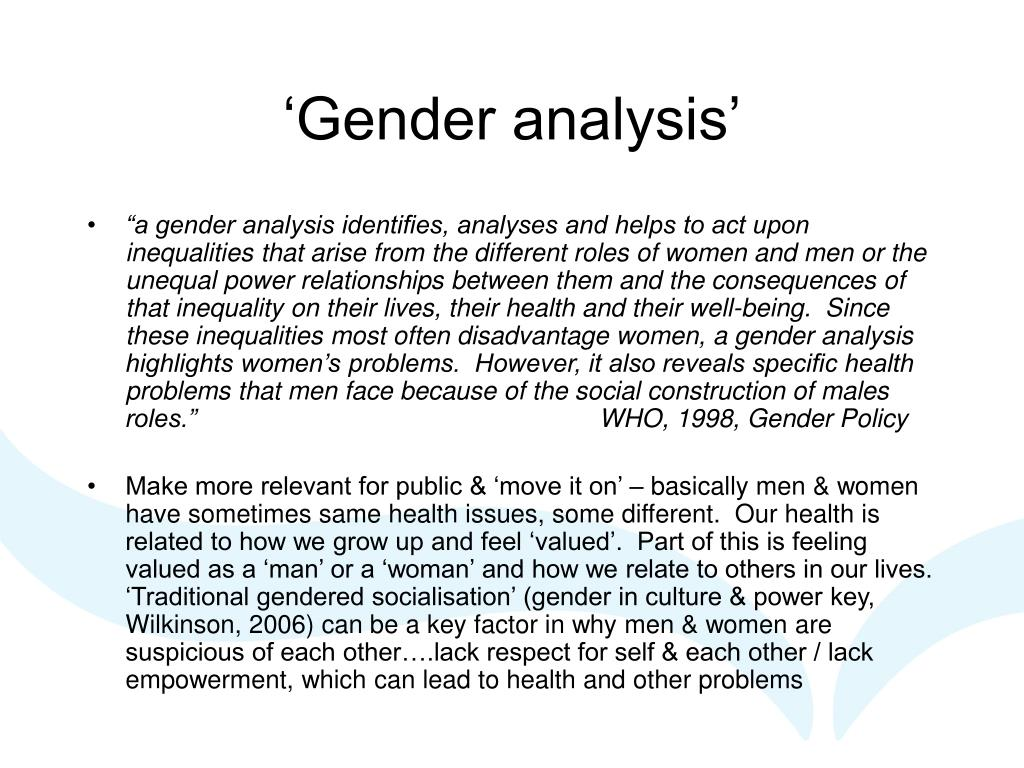 'Gender analysis'