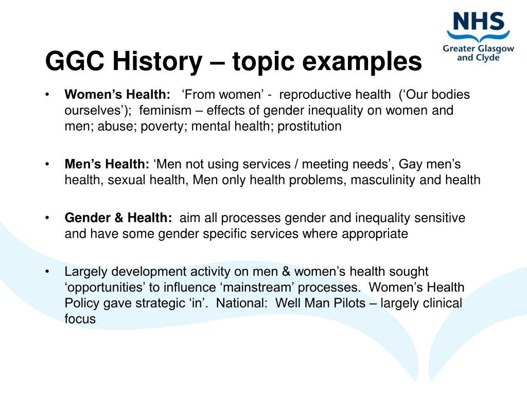GGC History – topic examples