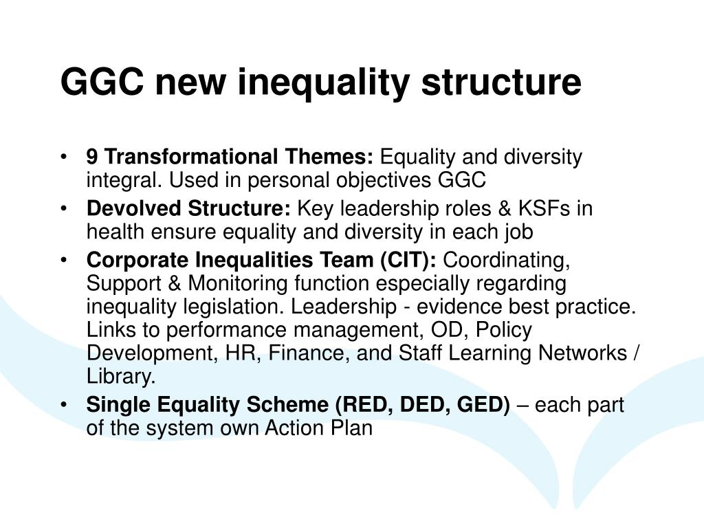 GGC new inequality structure