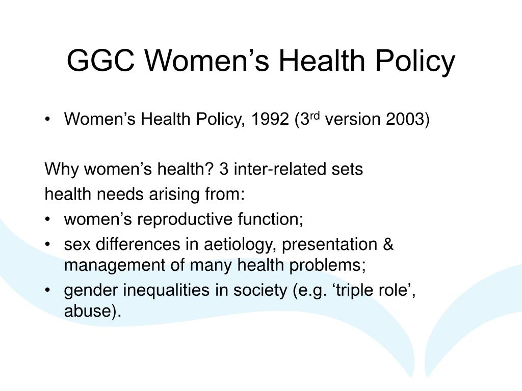 GGC Women's Health Policy