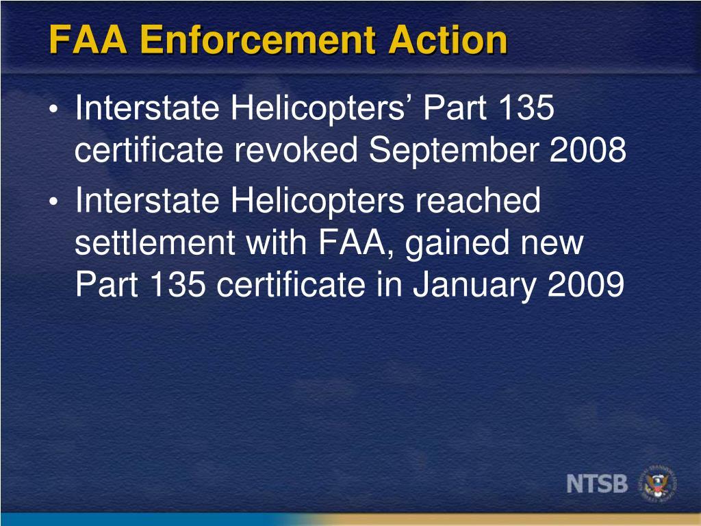 FAA Enforcement Action