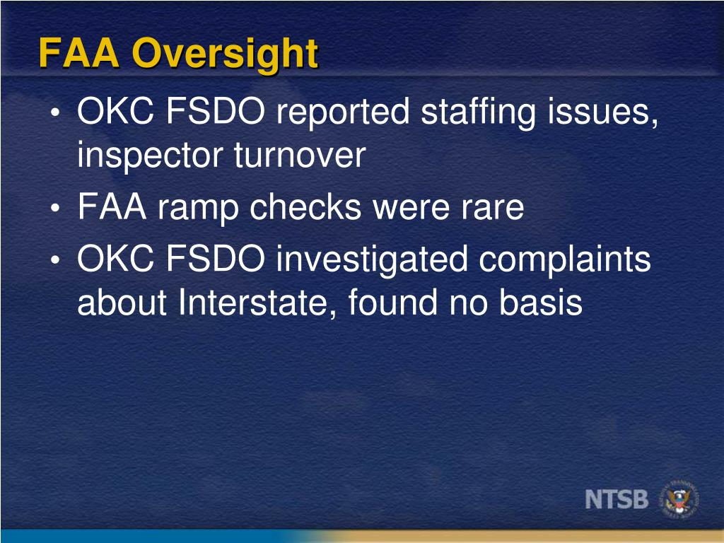 FAA Oversight