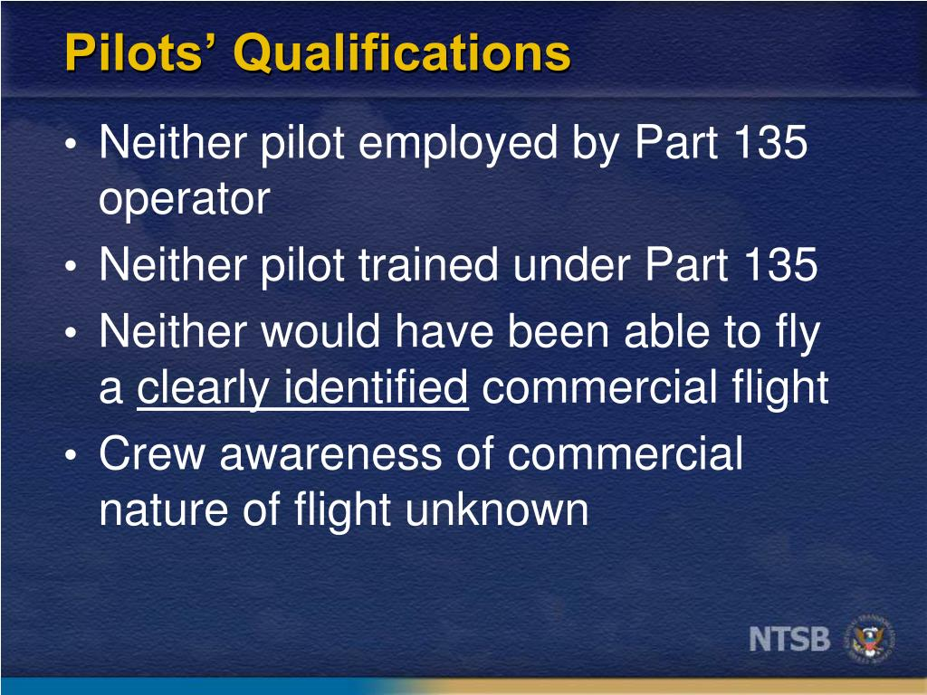 Pilots' Qualifications