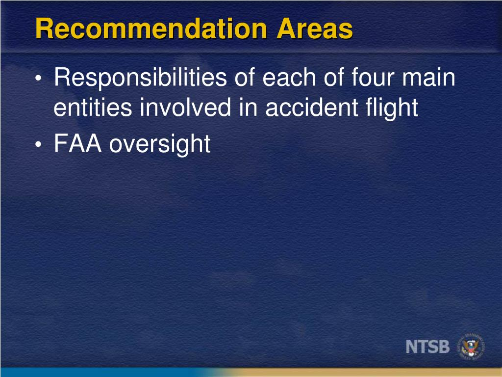 Recommendation Areas