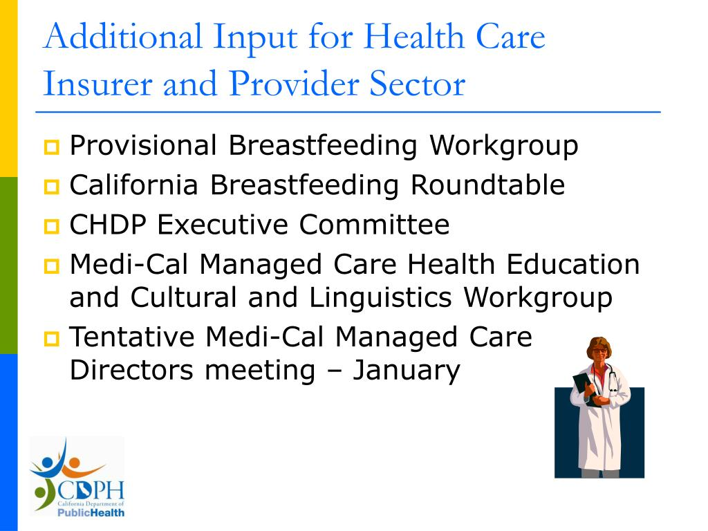 Additional Input for Health Care Insurer and Provider Sector