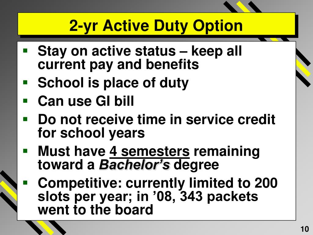 2-yr Active Duty Option