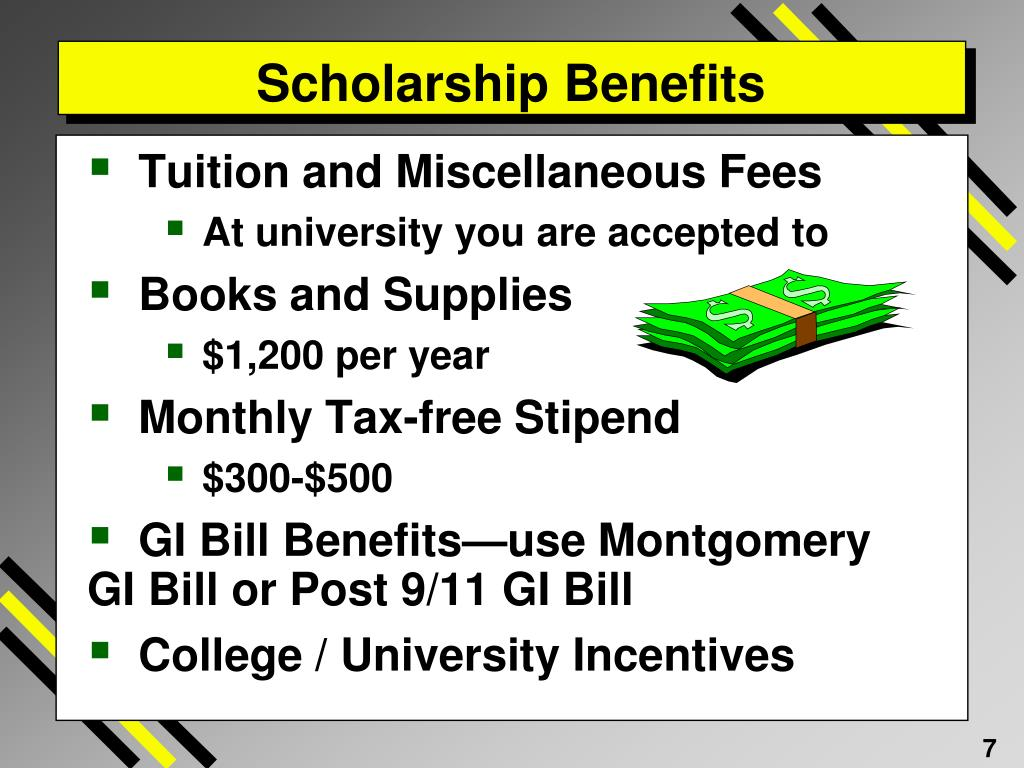 Scholarship Benefits