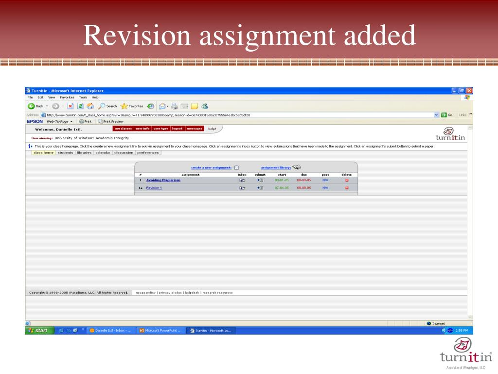 revision assignment The idea of radical revision encouraged students to use ideas generated in an   we radically revise our writing classrooms and assignments in new ways and.