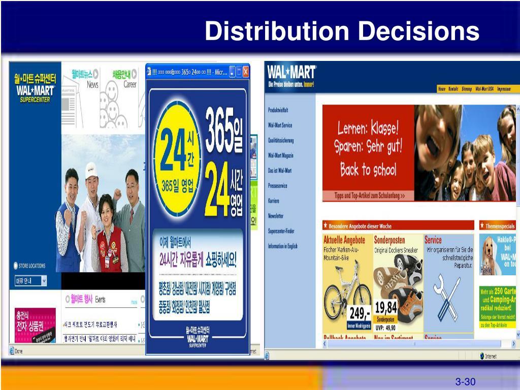 Distribution Decisions