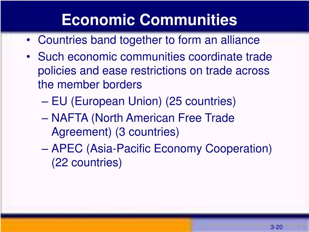 Economic Communities