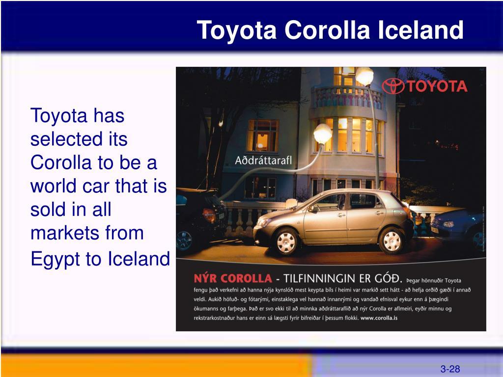 Toyota Corolla Iceland