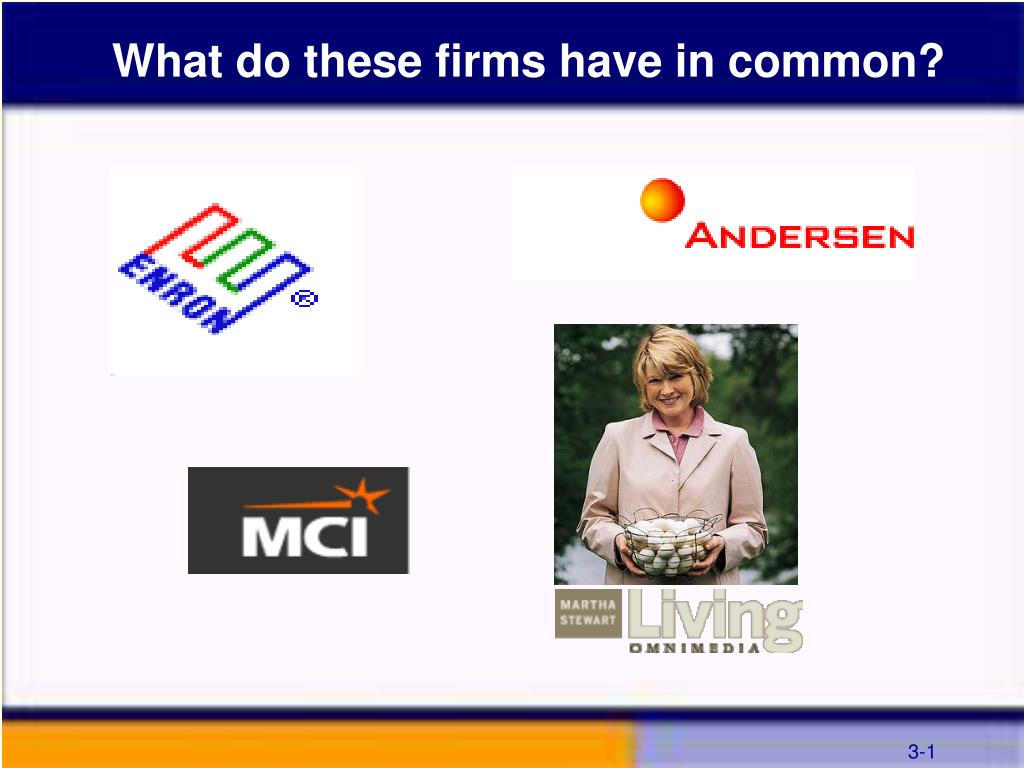 What do these firms have in common?