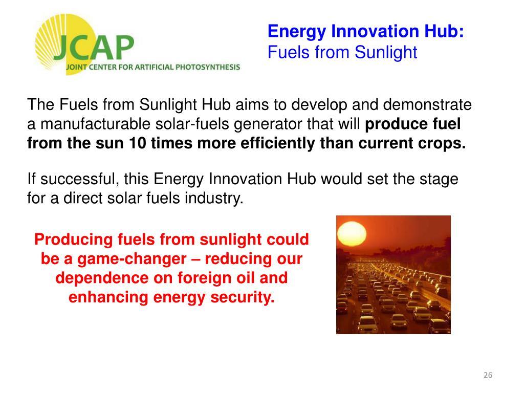 Energy Innovation Hub: