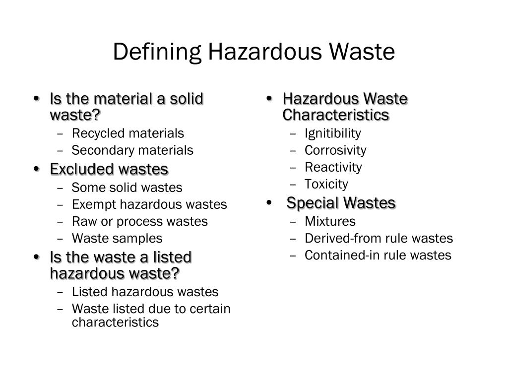 Is the material a solid waste?