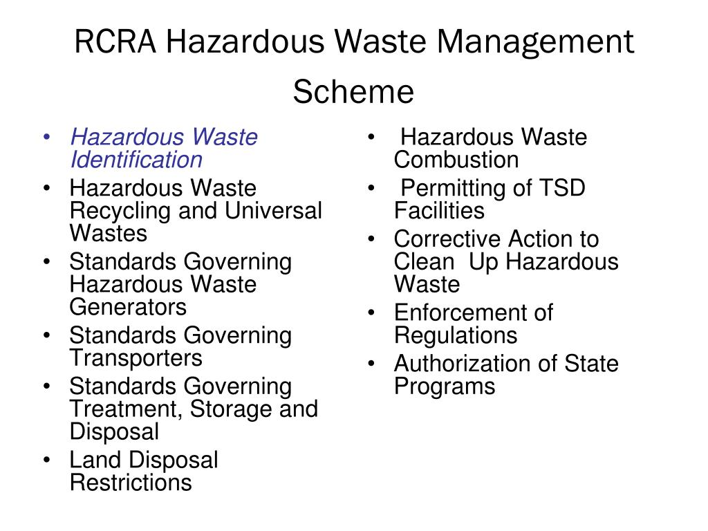 Hazardous Waste Identification