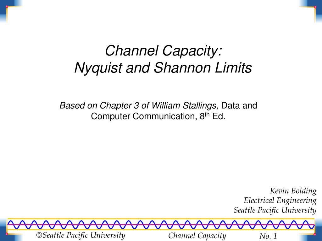 Channel Capacity: