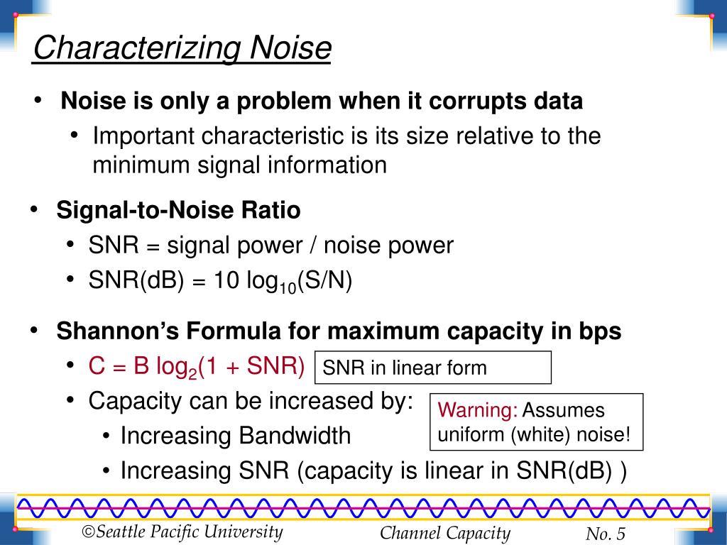 Characterizing Noise