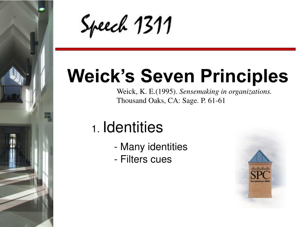 Weick's Seven Principles