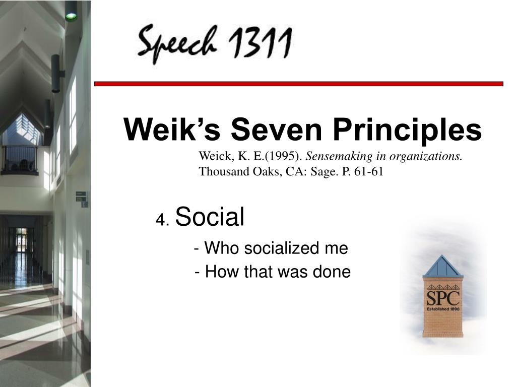 Weik's Seven Principles