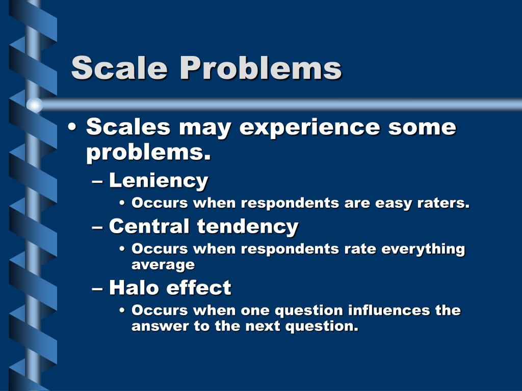 Scale Problems
