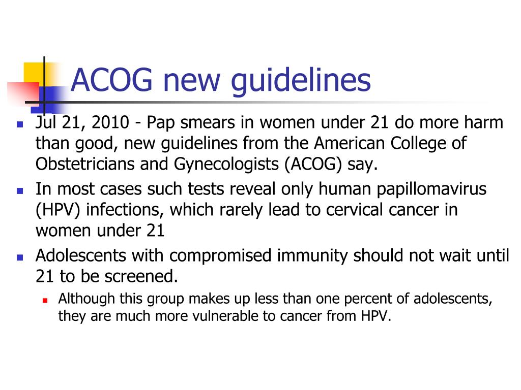 ACOG new guidelines