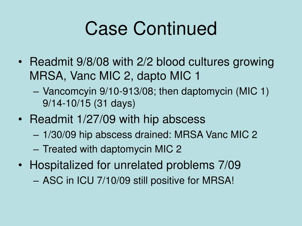 Case Continued