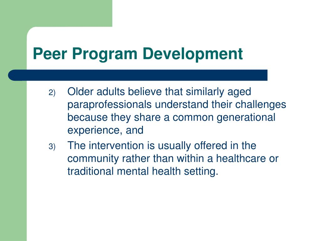 Peer Program Development