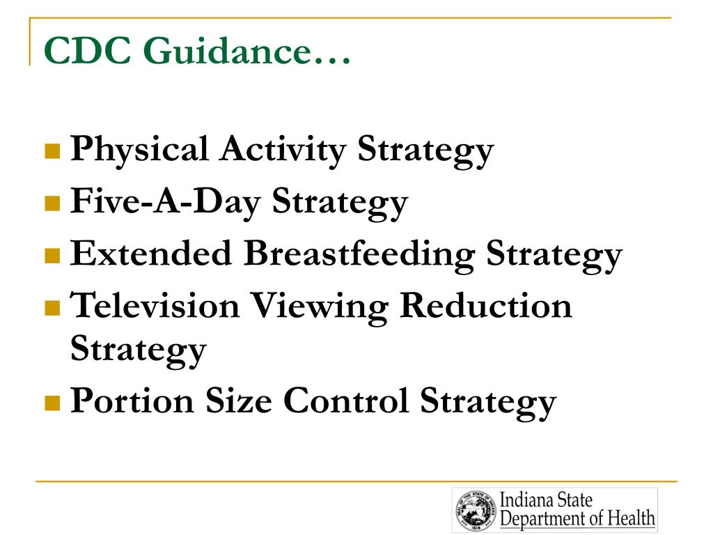 CDC Guidance…