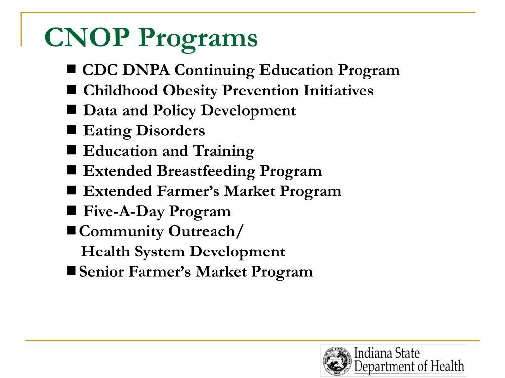 CNOP Programs