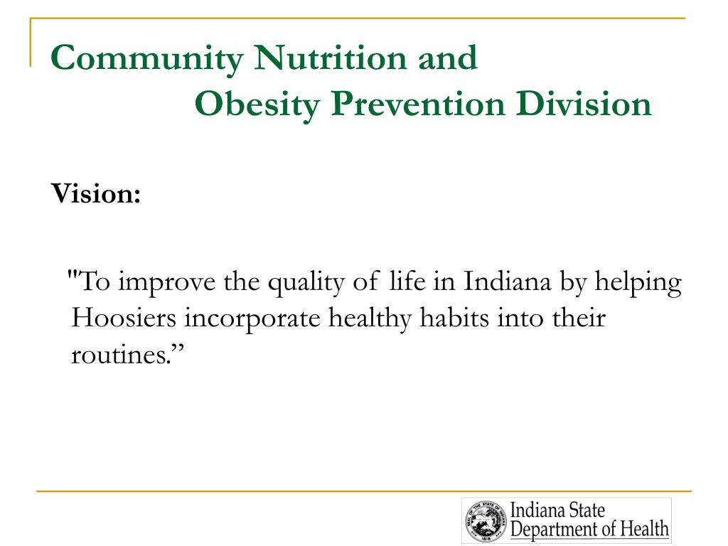 Community Nutrition and