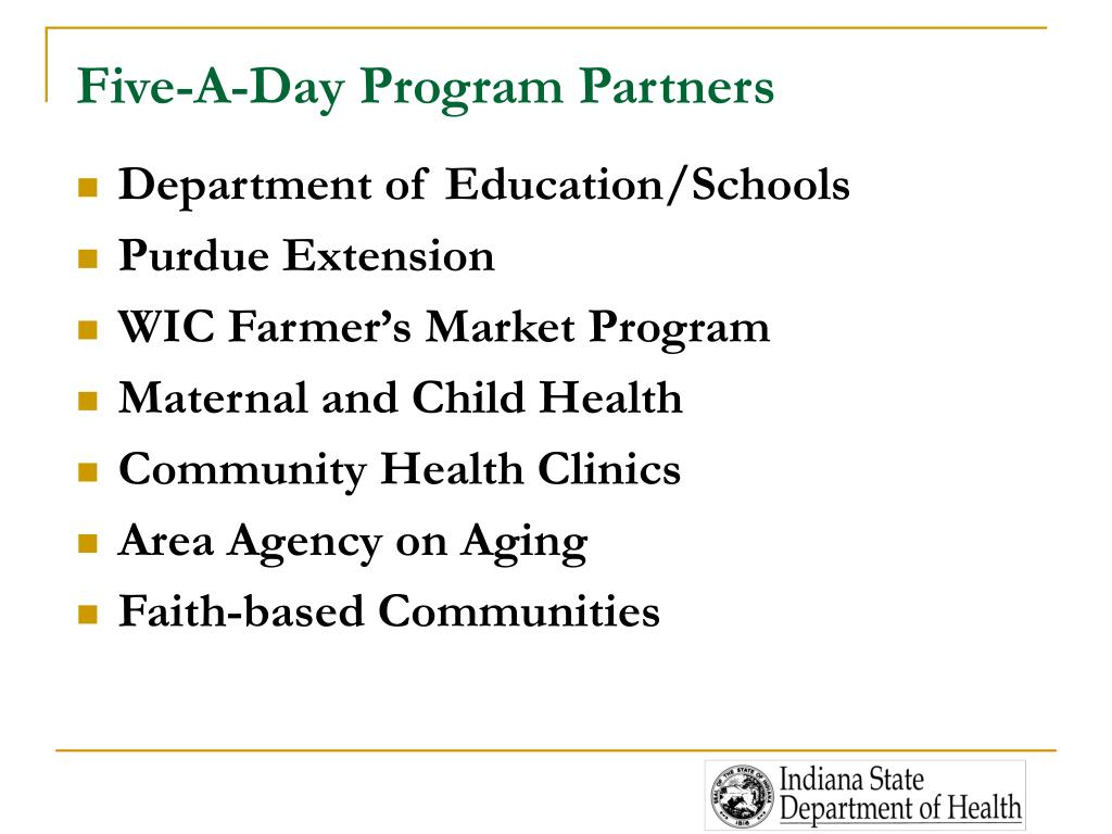 Five-A-Day Program Partners
