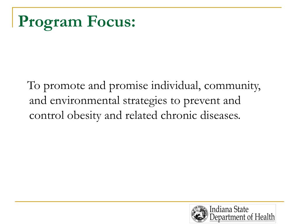Program Focus: