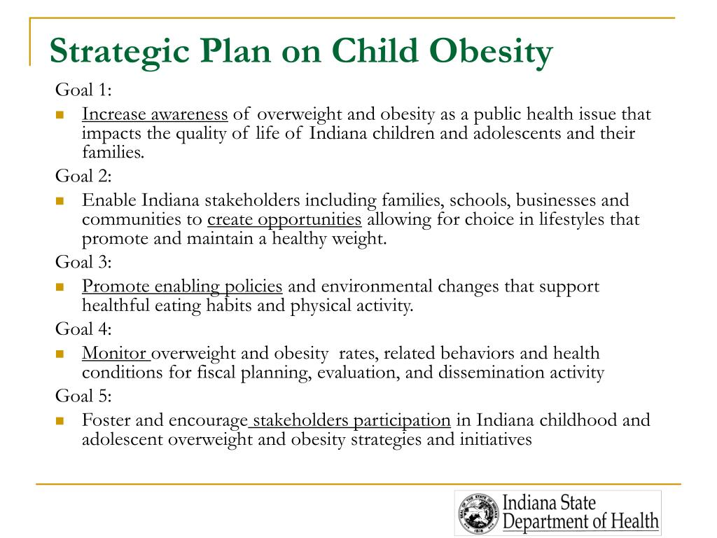 Strategic Plan on Child Obesity