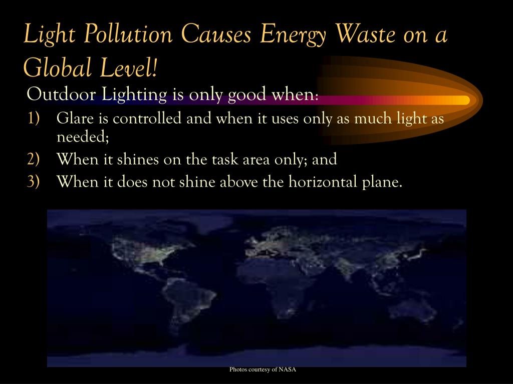 Light Pollution Causes Energy Waste on a Global Level!
