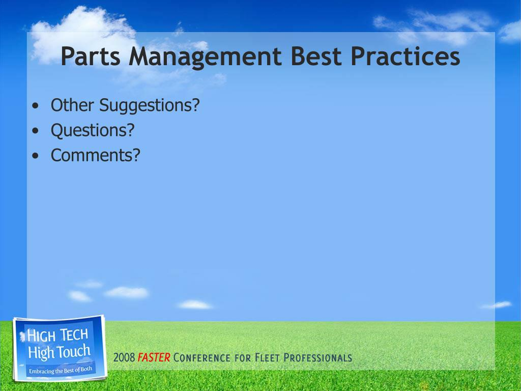 best management practices Best practice network provides complete information and guidelines about compliance, risk management, regulation, reporting & best practice software that can be used.