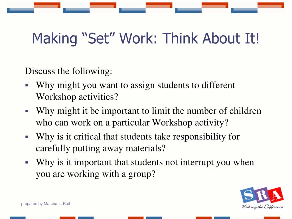 "Making ""Set"" Work: Think About It!"