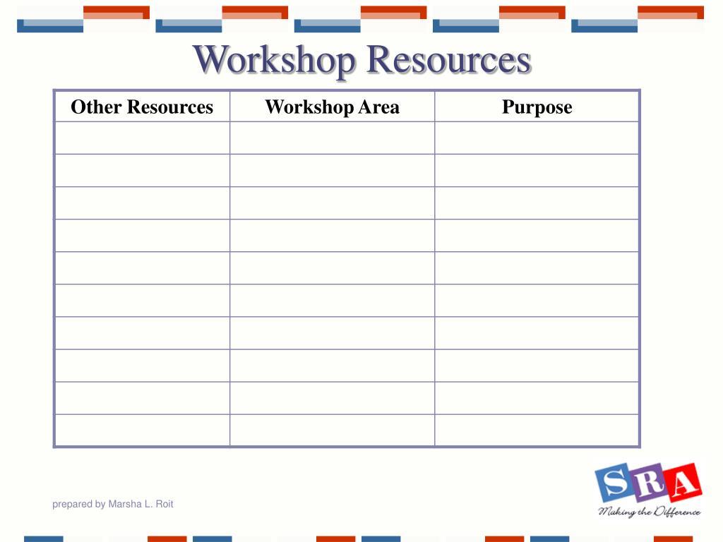 Workshop Resources