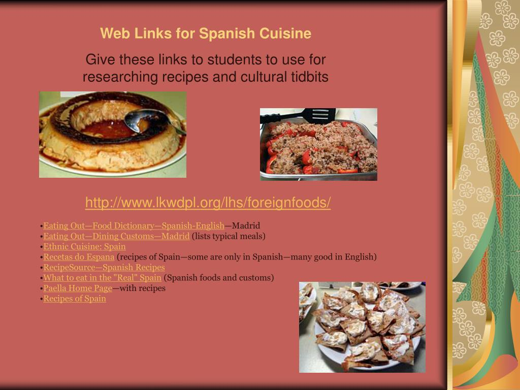 Web Links for Spanish Cuisine