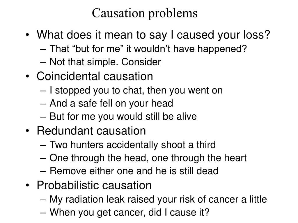 Causation problems