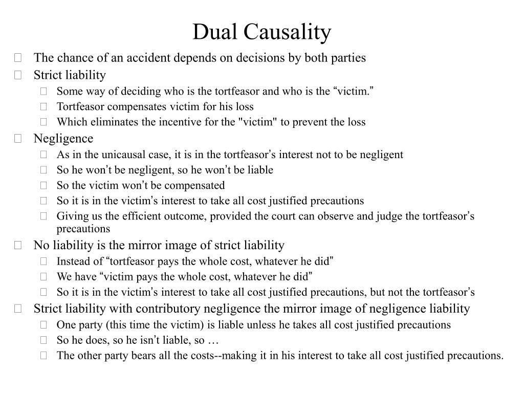 Dual Causality