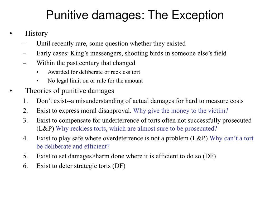 Punitive damages: The Exception