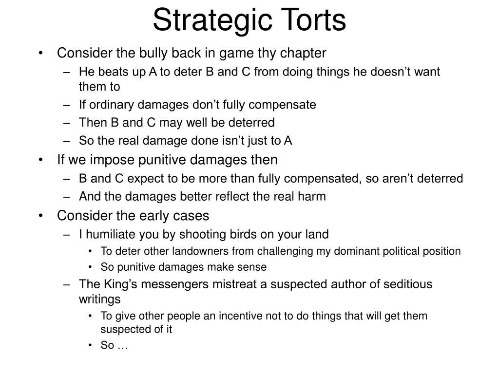 Strategic Torts