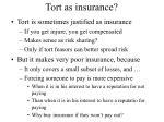 tort as insurance