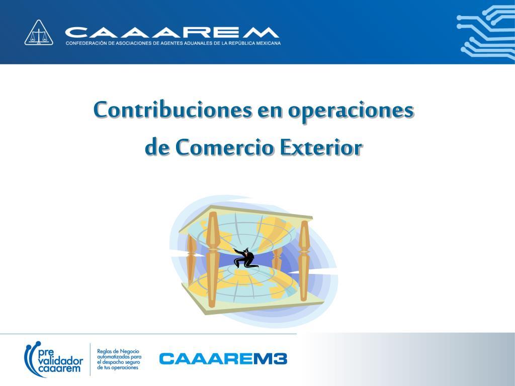 Ppt c lculo de c ontribuciones powerpoint presentation for Comercio exterior