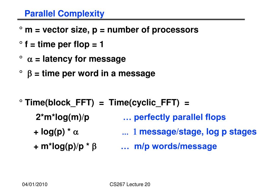 Parallel Complexity
