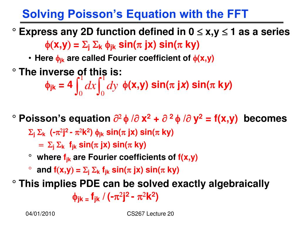 Solving Poisson's Equation with the FFT